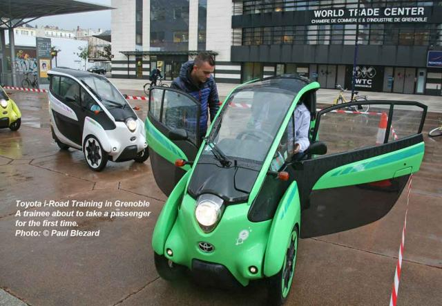 Toyota i-Roads in Grenoble