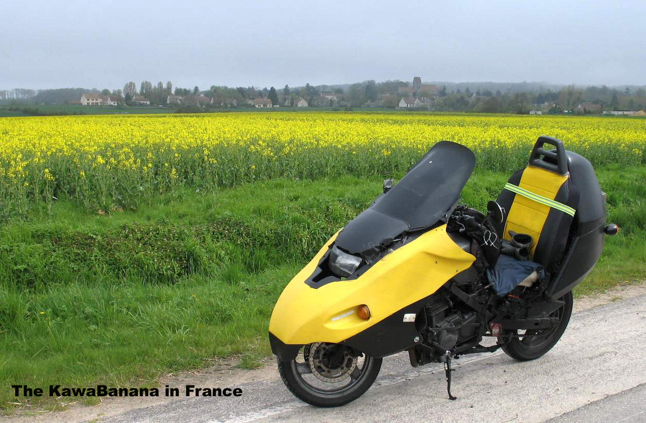France on my home-made bike.....
