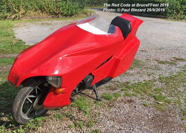Red Honda Coda 400 FF 2019