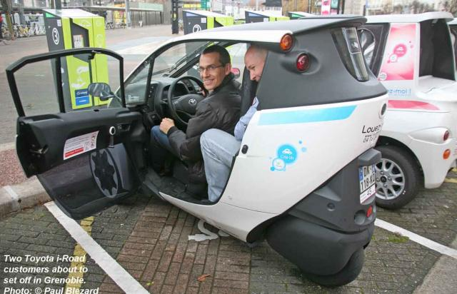2-up in a Toyota i-Road!