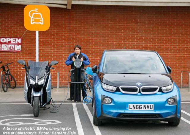 2 + 4-wheeled BMW EVs, charging for free