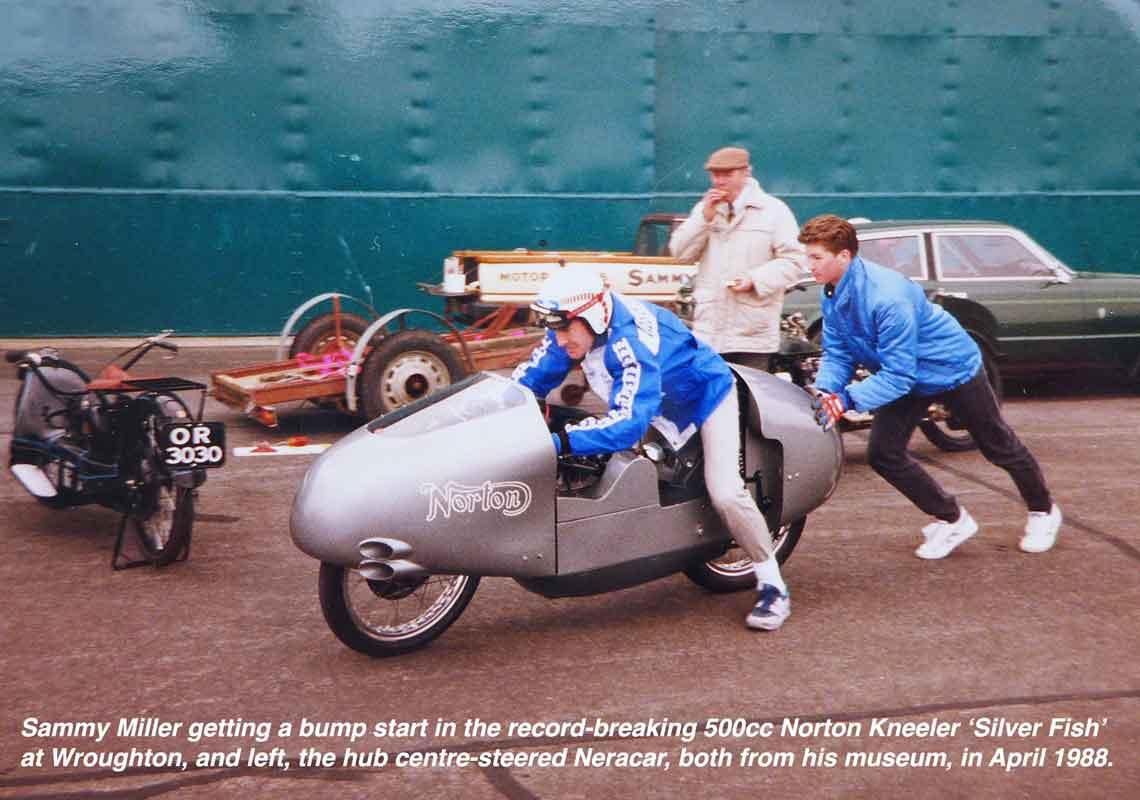 Sammy Miller on Norton Kneeler at Wroughton