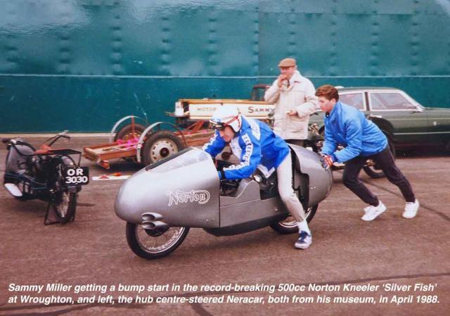Sammy Miller on the Norton Kneeler for Top Gear in 1988