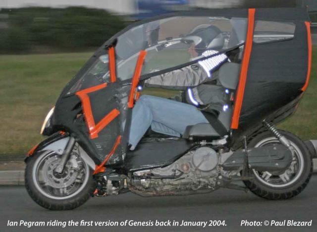 Ian Pegram riding Genesis in 2004