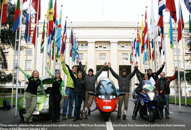 3 EVs Around the world in 80 days - in 2010-11
