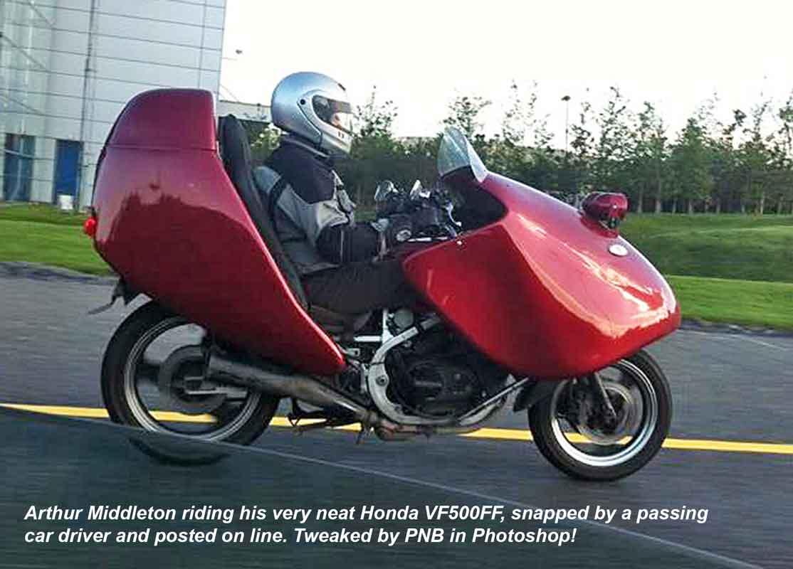 Arthur riding his VF500FF