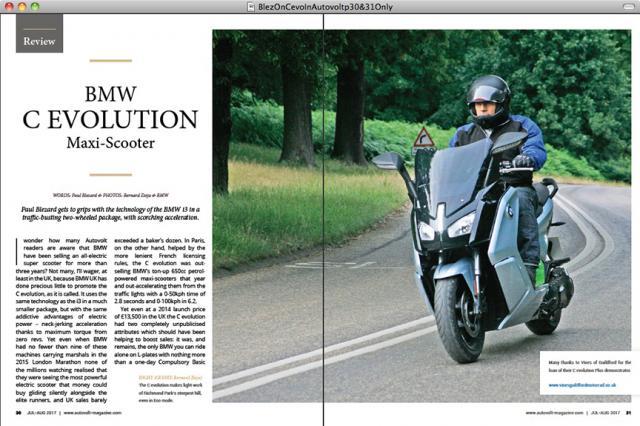 Blez On BMW C evolution Plus in Autovolt