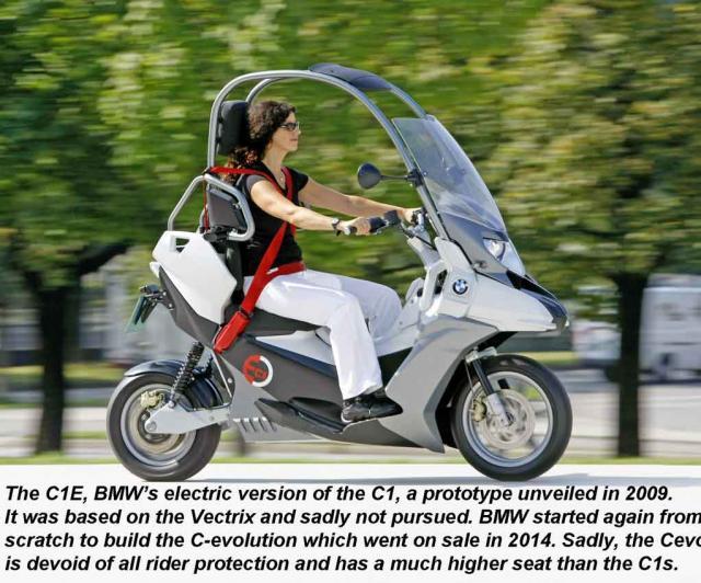 BMW's electric C1E Prototype (2009-2010)