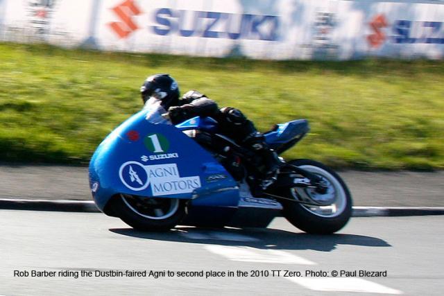 Dustbin-faired Agni Racer TTZero 2010