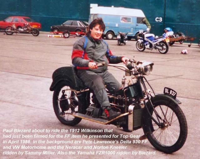 Blez rides the 1912 Wilkinson