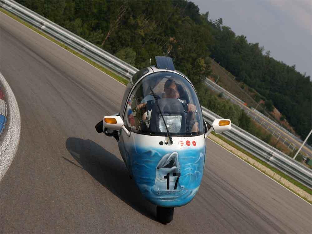 Blez drives Dolphin Eco at Brno, 2009