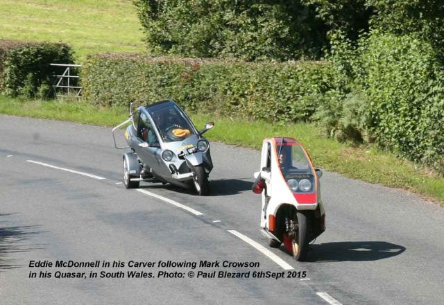 Carver TTW Follows Quasar near Usk