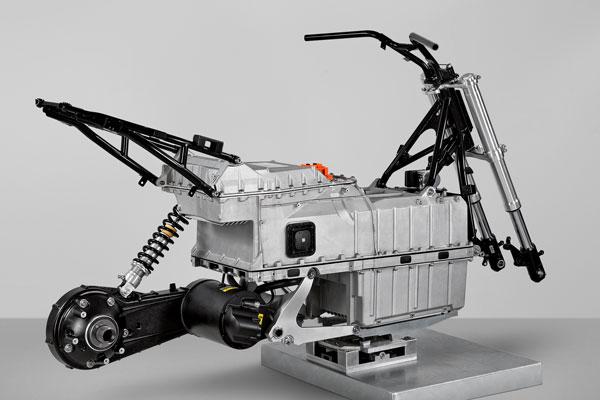 C evo chassis, motor & battery