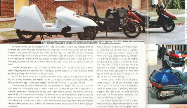 Delta FF + Hejira KL600FF + CN250 in 1990!