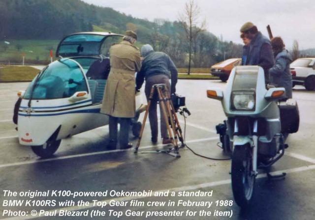 Oekomobil + BMW K100RS together