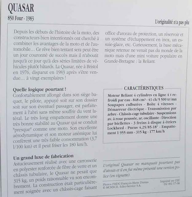 La Quasar, en Francais