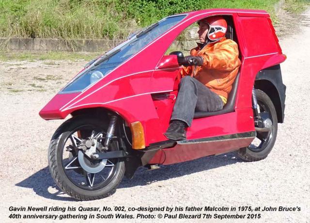 Gavin Newell riding his Quasar
