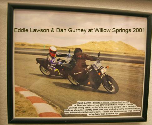 Eddie Lawson & Dan Gurney riding Alligators (2001)