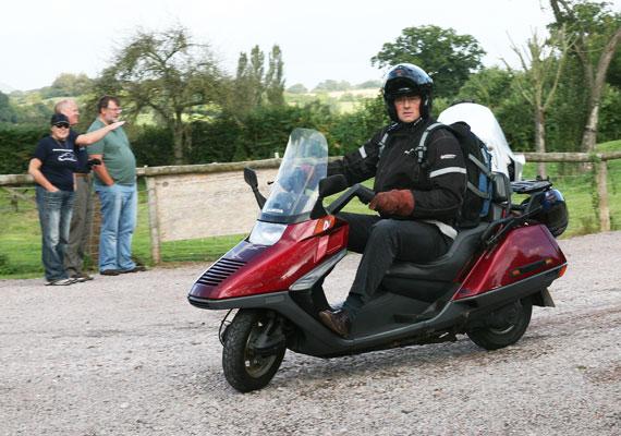 Henry M on a Honda Helix
