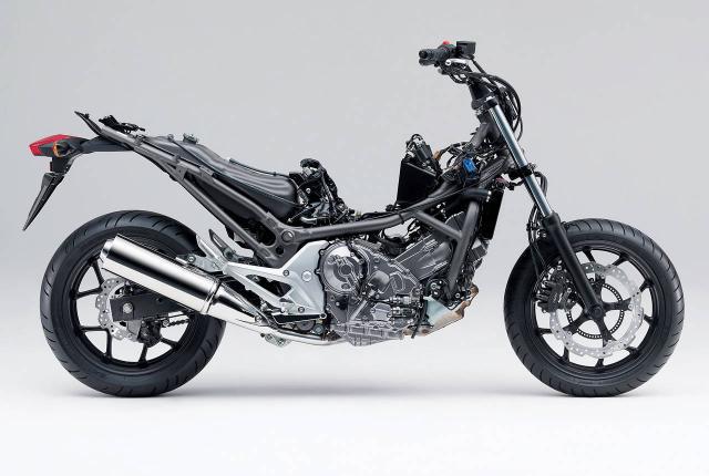 Honda's NC700X naked (RHS)