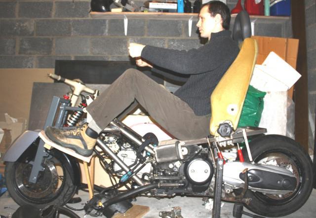 "Ergonomics mockup - 6'3"" rider"