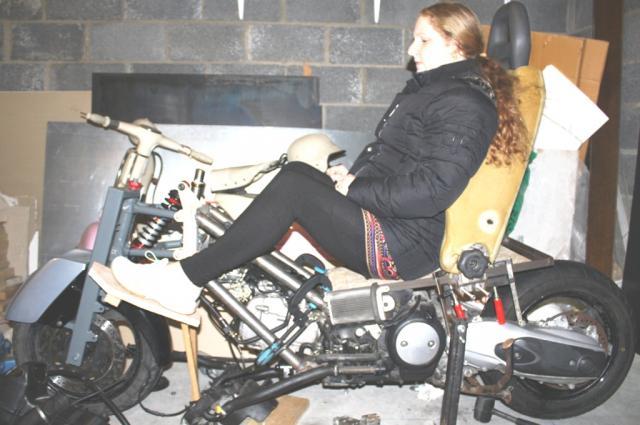 "Ergonomics mockup - 5'5"" rider"