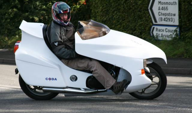 John Bruce in his Coda 450