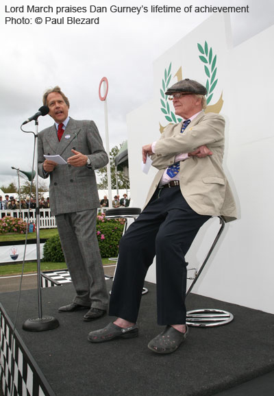 Lord March praises Dan Gurney (2012)
