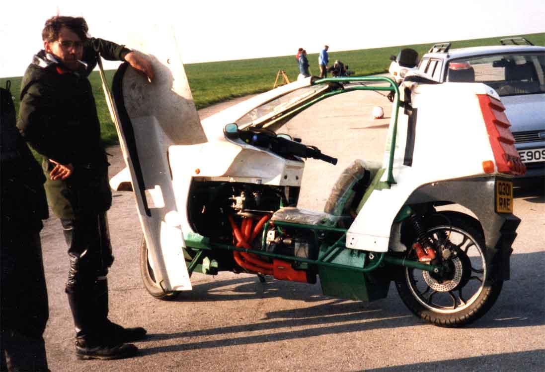 Mark Verden & his Mk1.5 Quasar in 1988