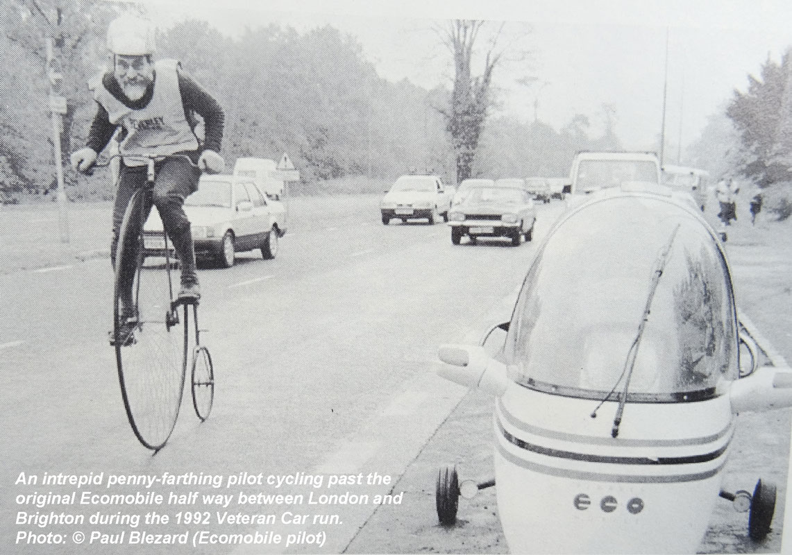 Penny Farthing Passes Ecomobile! (1992)