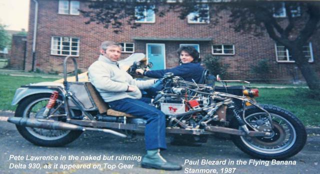 Pete Lawrence in naked Delta, Blez in Banana, 1987