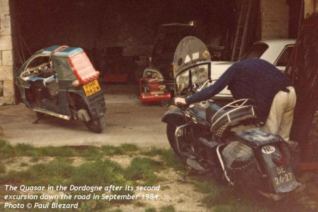 FHR 942W & an old Harley in the Dordogne (1984)