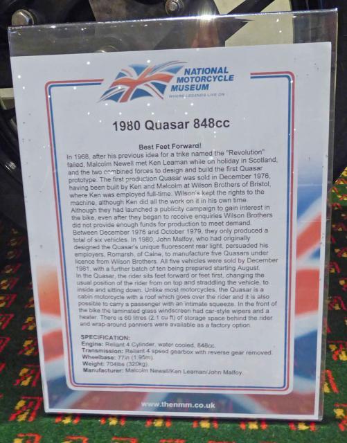 NMM's Blurb about the Quasar