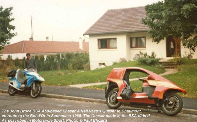 John Bruce BSAFF & Quasar in France, 1985