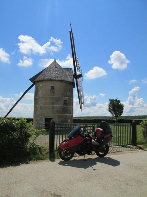 A medieval windmill with alloy sails, advanced engineering for 1526!