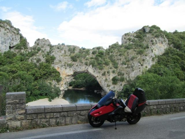 Yes that is the Pont D'Arc and it is worth the ride to see it and the Ardeche Gorge!