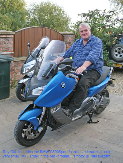 Roy on BMW C600Sport