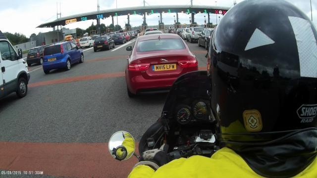 Example photo from bike mounted MOBIUS camera
