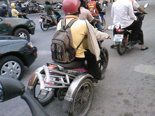 In Thailand - Everyone rides :)