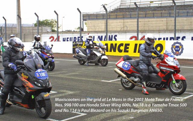 Maxiscoots race at Le Mans!