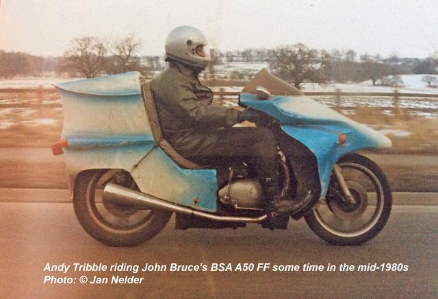 Trib riding the Bruce BSAFF; 1980s