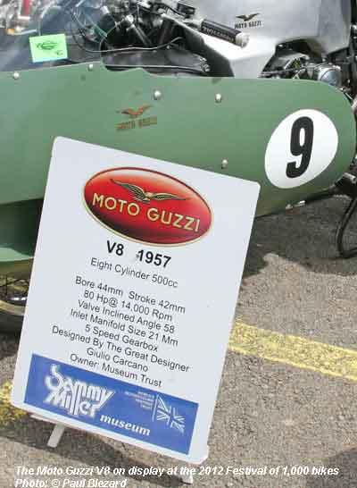 Moto Guzzi V8 information (2012)