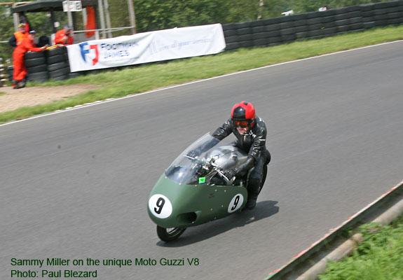 Sammy riding the V8 'Guzzi