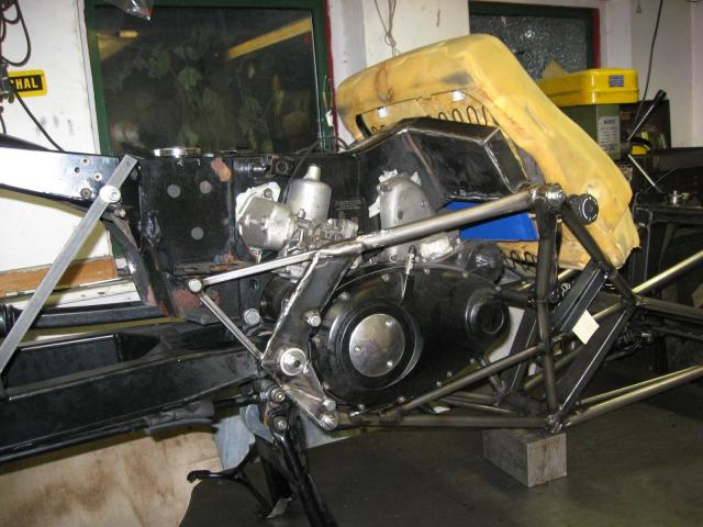 Motor in frame - rear view