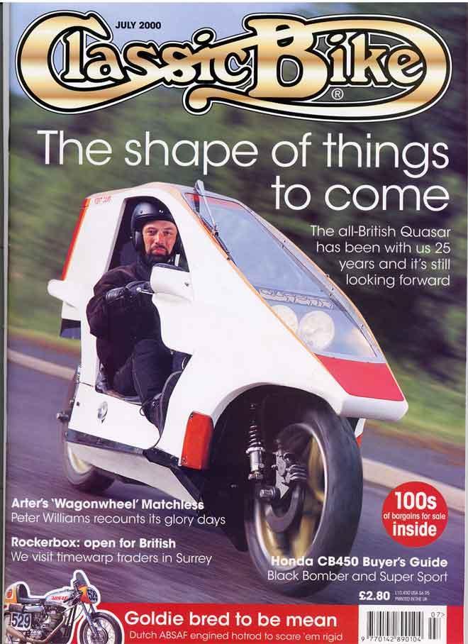 Quasar Classic Bike Cover (July 2000)
