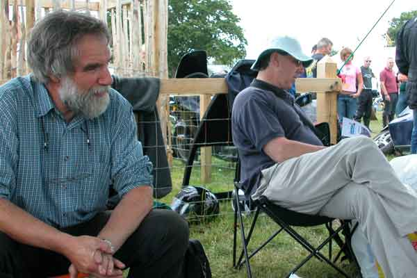Colin Ferguson and Graham Robb (asleep?)