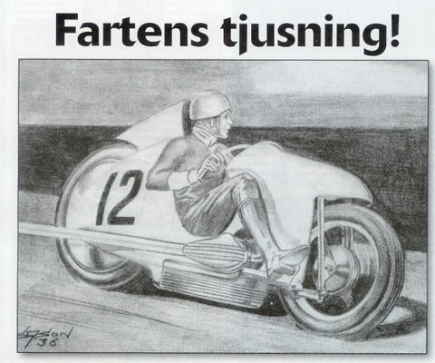 Fartens tjusning! ('The enchantment of speed'). 1936 Sixton Sason Design.