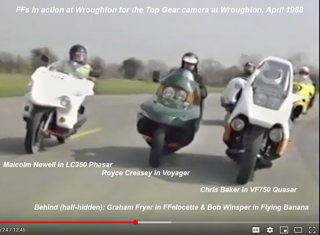 LC350FF, Voyager & VF750FF in action on Top Gear