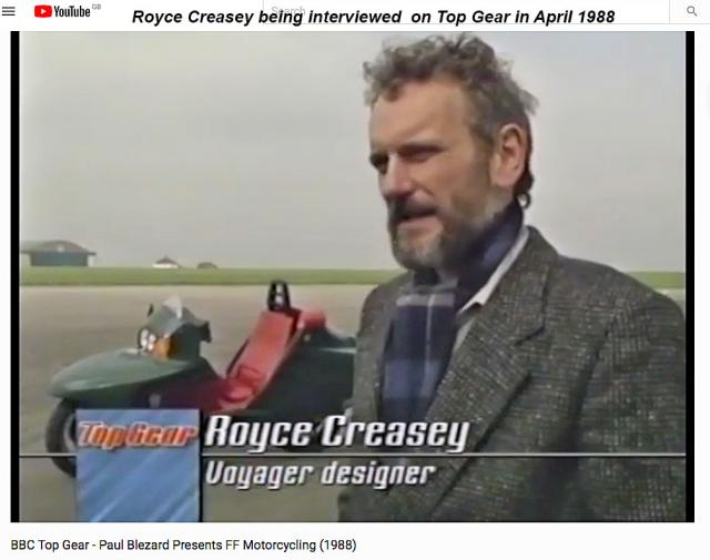Royce Creasey Interview on Top Gear