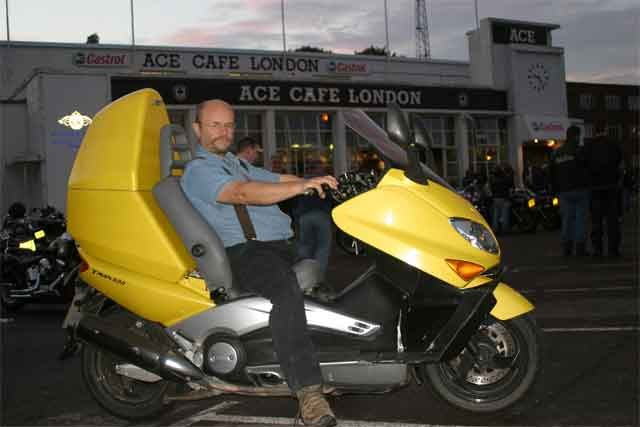 Ian Mutch at the Ace Cafe (2005)